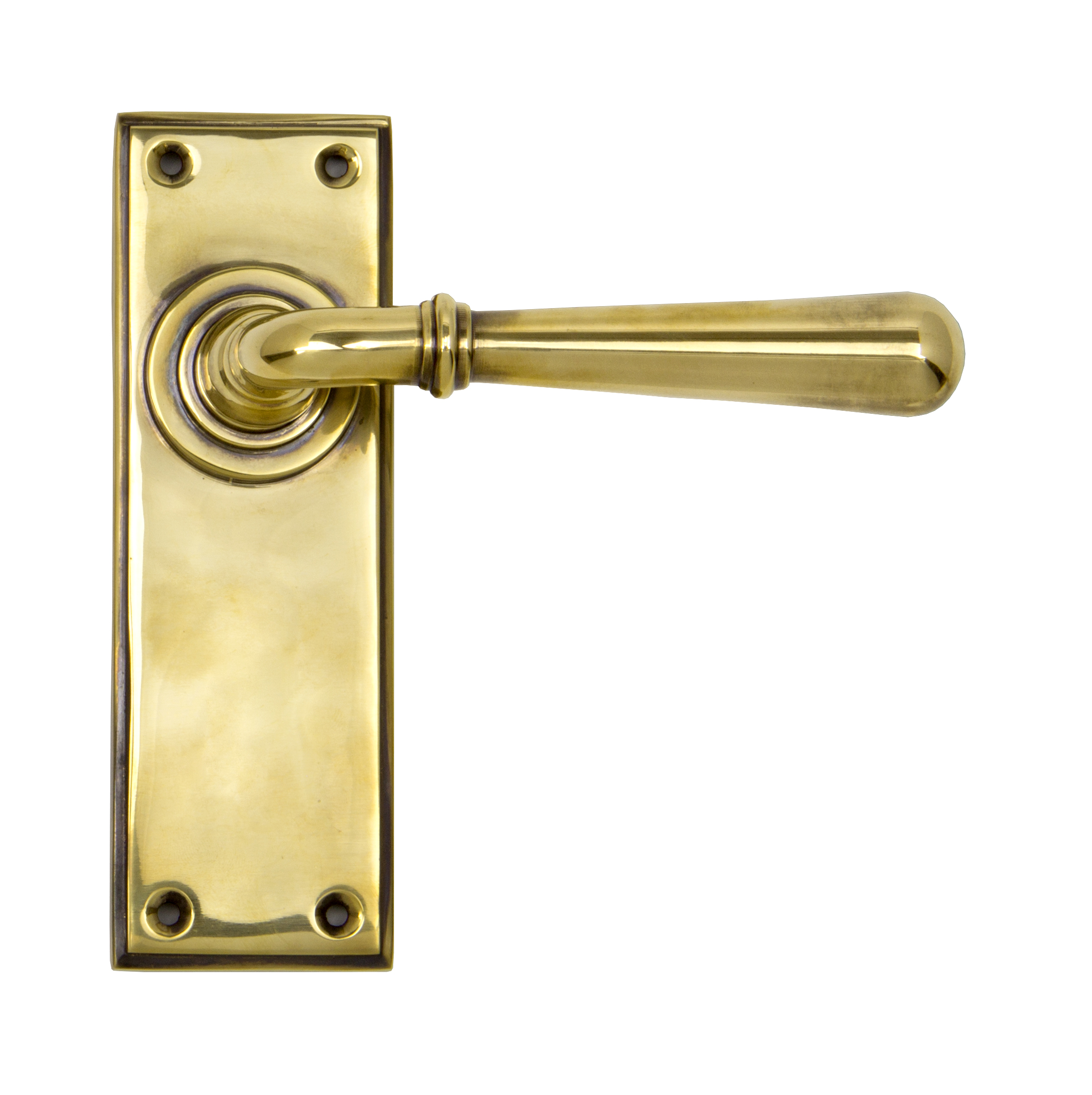 View Aged Brass Newbury Lever Latch Set offered by HiF Kitchens