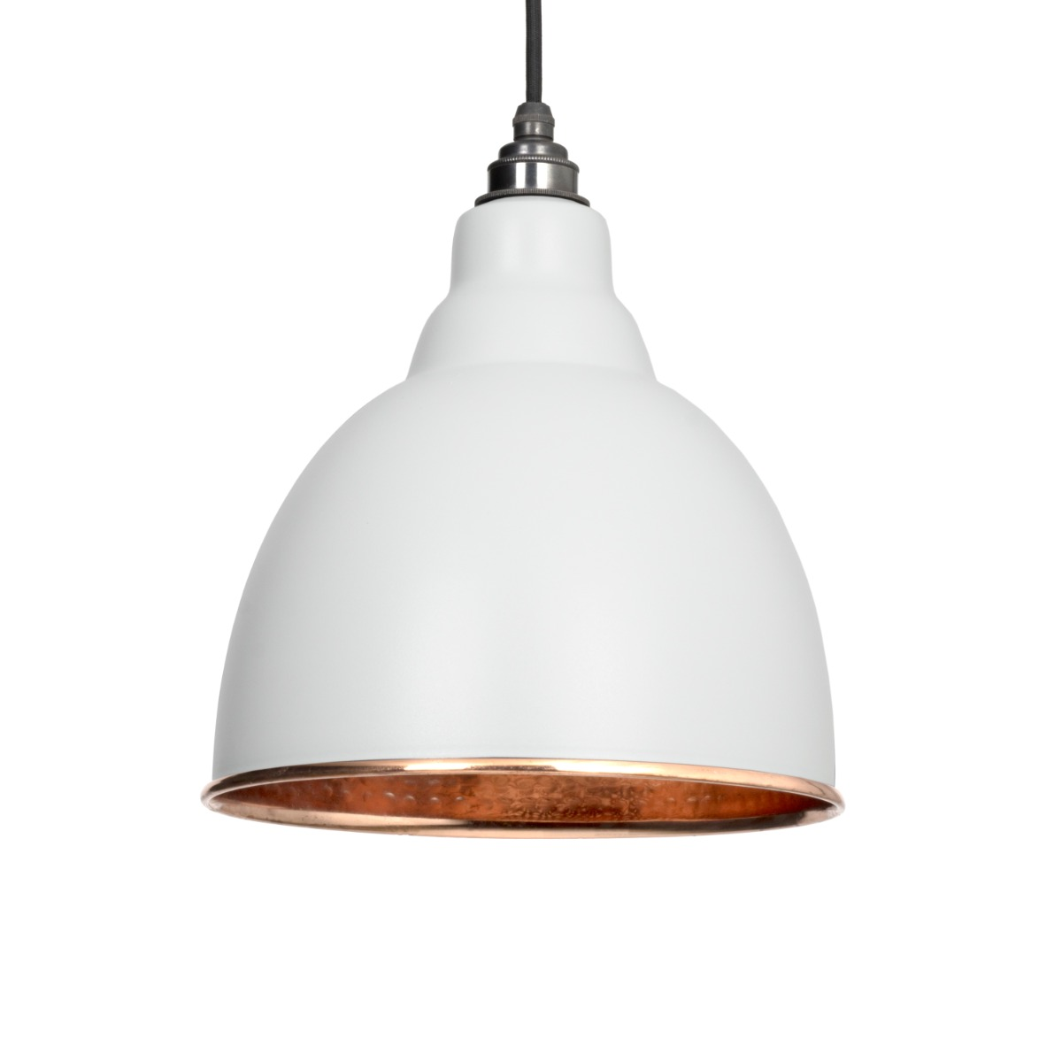 From The Anvil Light Grey Hammered Copper Brindley Pendant 49500LG