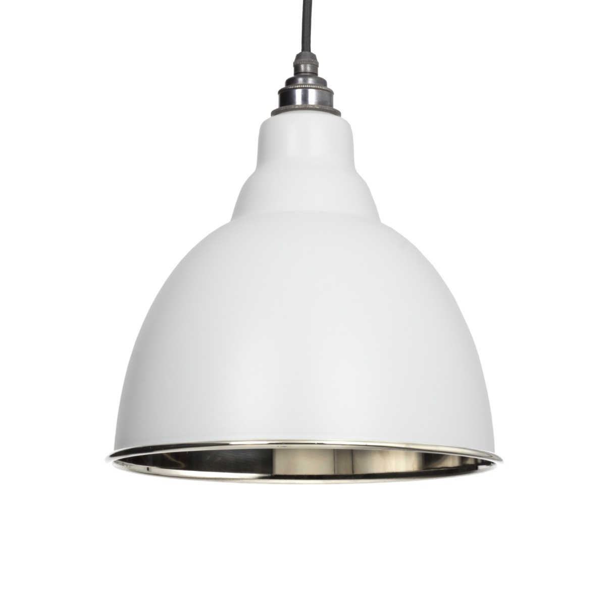 From The Anvil Light Grey Smooth Nickel Brindley Pendant 49504LG