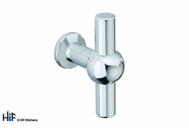 H1091.60.CH Weel T-Bar Handle Chrome 60mm Hole Centre