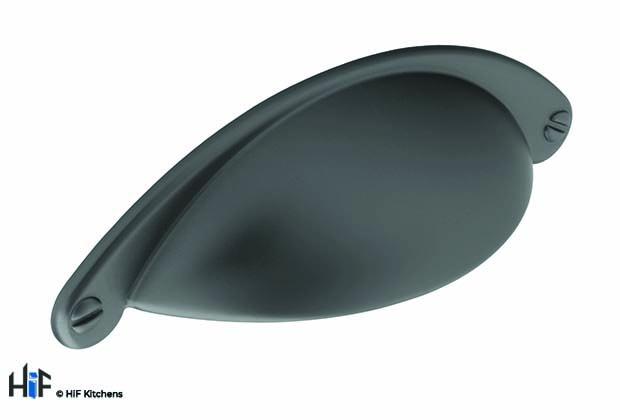 H1092.64.BS Barton Cup Handle Satin Black 64mm Hole Centre
