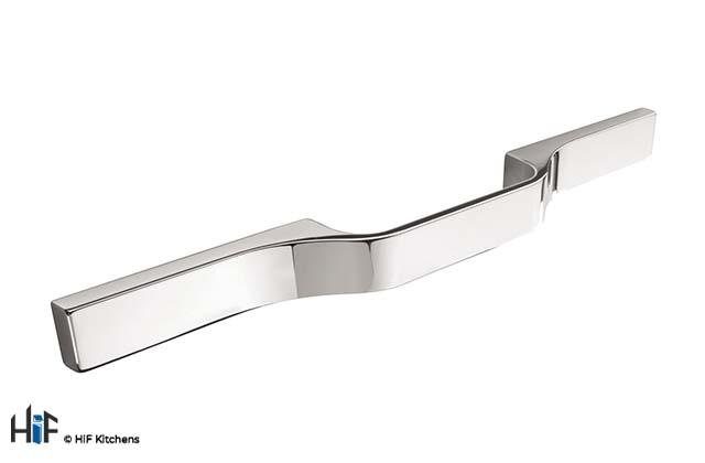 H1106.250.CH Kitchen D Handle 250mm Long Chrome Multi Hole Centres