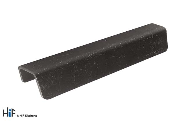 H1107.96.MB Kitchen Front Fixed Pull Handle 96mm Industrial Matt Black