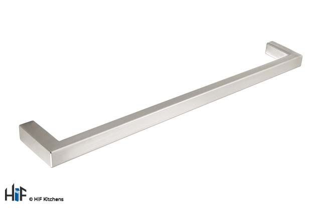 H745.128.SS Sonning Bar Handle Square Brushed Stainless Steel Effect