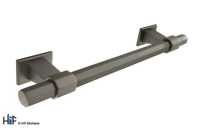 H994.160.BS Hexagonal Bar Handle 160mm Black Satin Effect