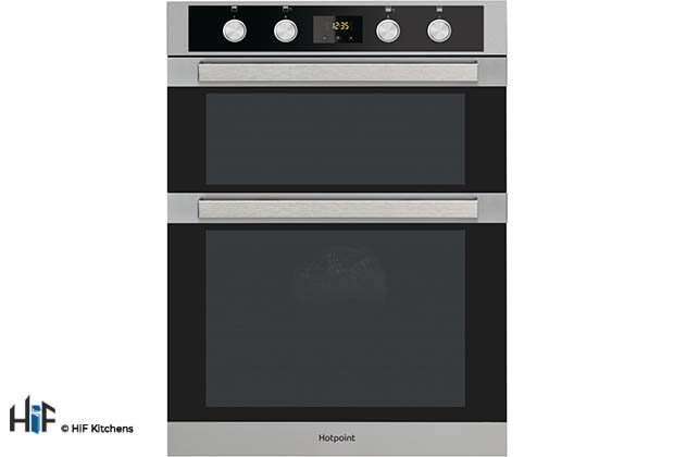 View Hotpoint Built-in Double Oven DKD5 841 J C IX Multifunction offered by HiF Kitchens