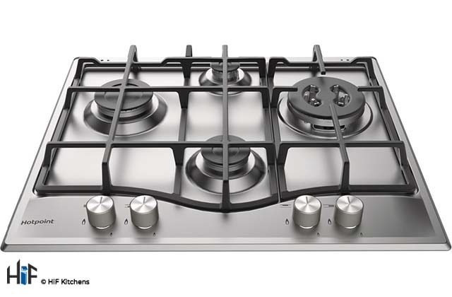 Hotpoint PCN 641 TIXH 60cm Gas Hob Stainless Steel