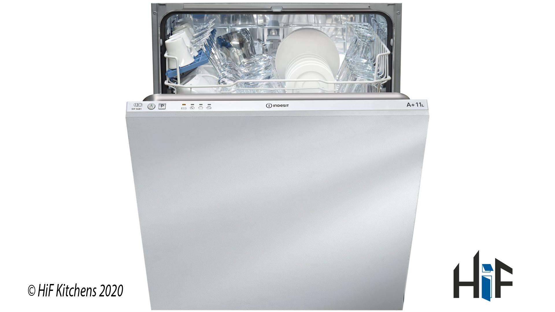 Indesit DIF04B1 Ecotime Integrated Dishwasher