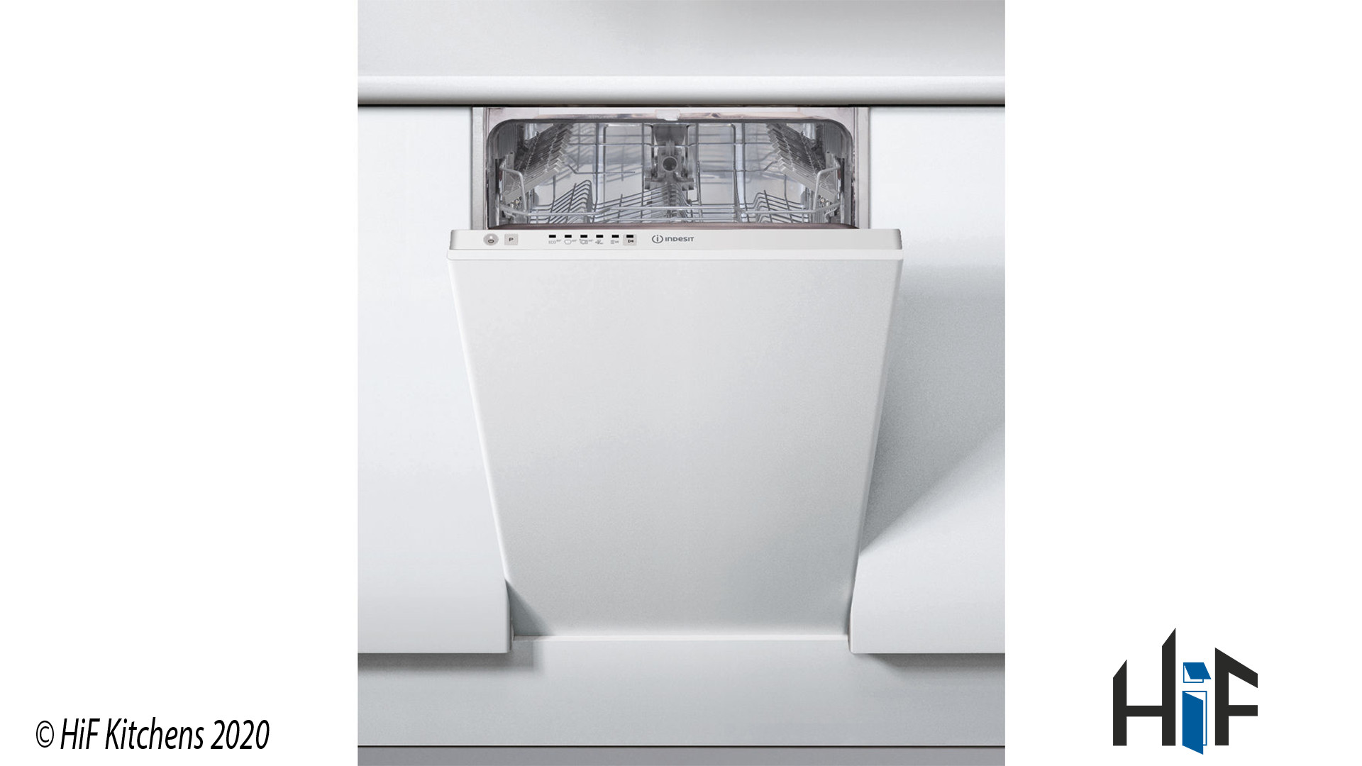 Indesit DSIE 2B10 UK Fast Eco Cycle Integrated Dishwasher
