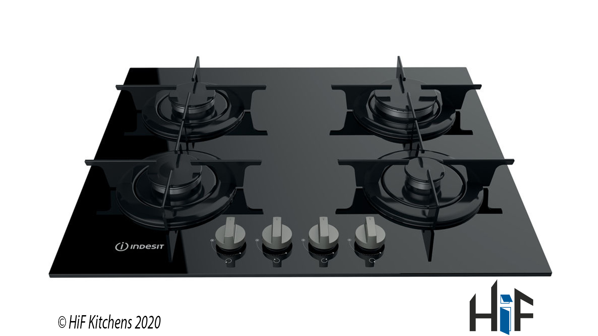 Indesit PR642IBKUK Gas on glass Hob
