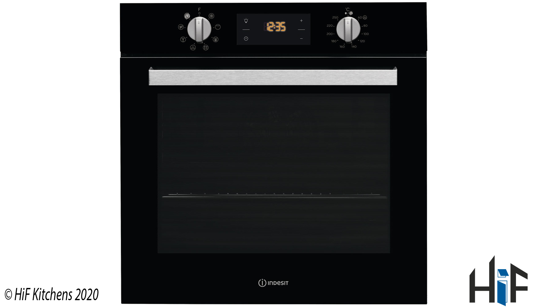 Indesit Aria IFW 6340 BL UK Single Oven supplied by HiF Kitchens