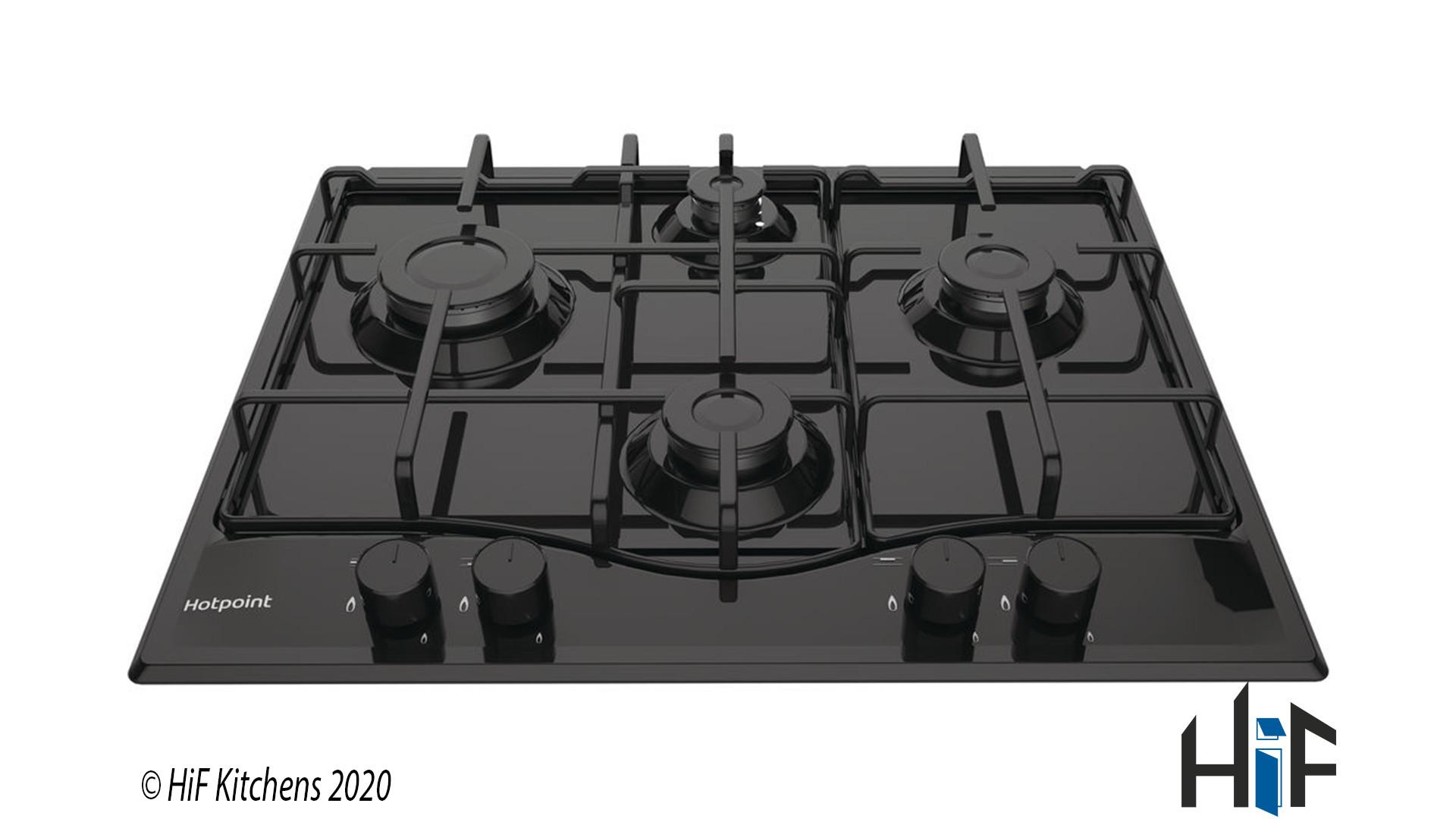 Hotpoint PCN642HBK 60cm Gas Hob