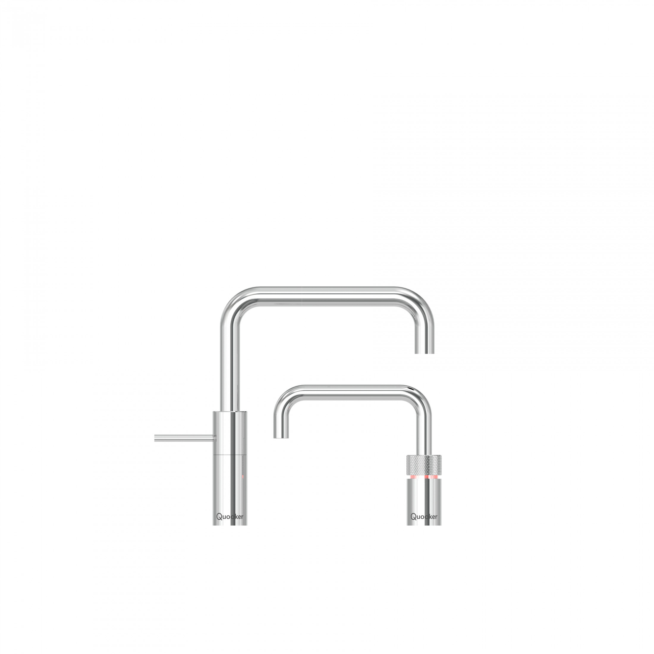 Quooker Nordic Square Chrome Twin Taps 3NSCHRTT