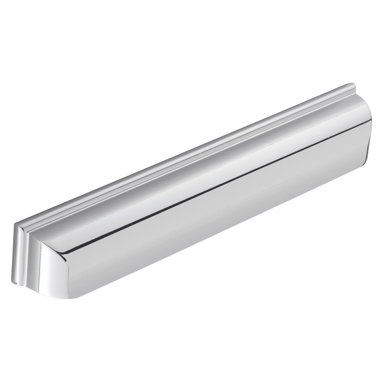 H1122.160.BN Elongated Cup Handle Square Detail 160mm Bright Nickel