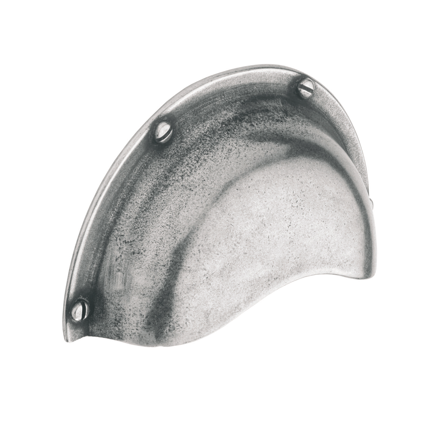 H624.64.PE Cup Handle 64mm C/W Integrated Backplate Pewter