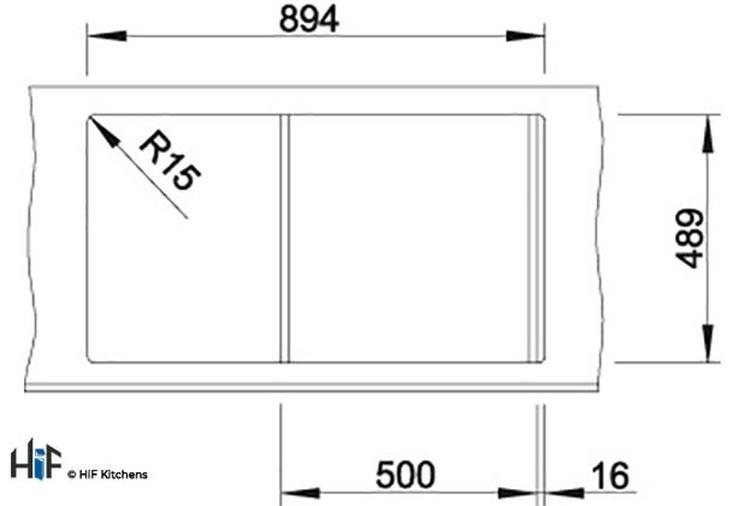 Blanco 522103 Axis III 5 S-IF Sink BL468104 Image 3