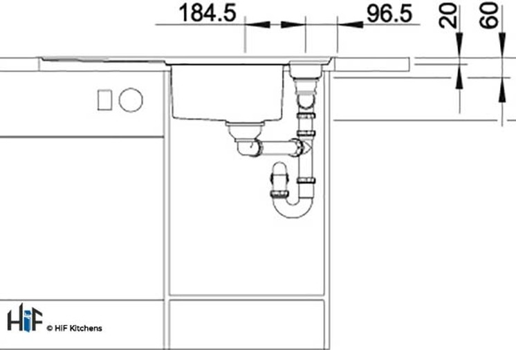 Blanco 522103 Axis III 5 S-IF Sink BL468104 Image 4