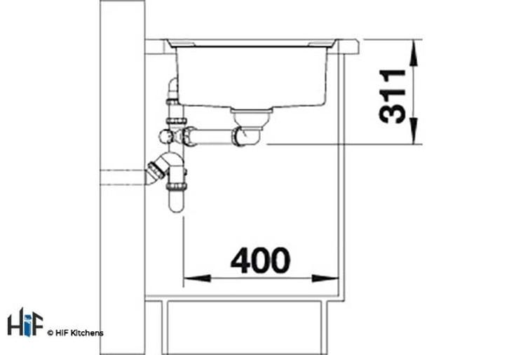 Blanco 522103 Axis III 5 S-IF Sink BL468104 Image 5