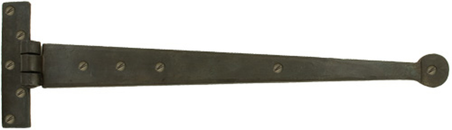 Beeswax 18'' Penny End T Hinge (pair) Image 1