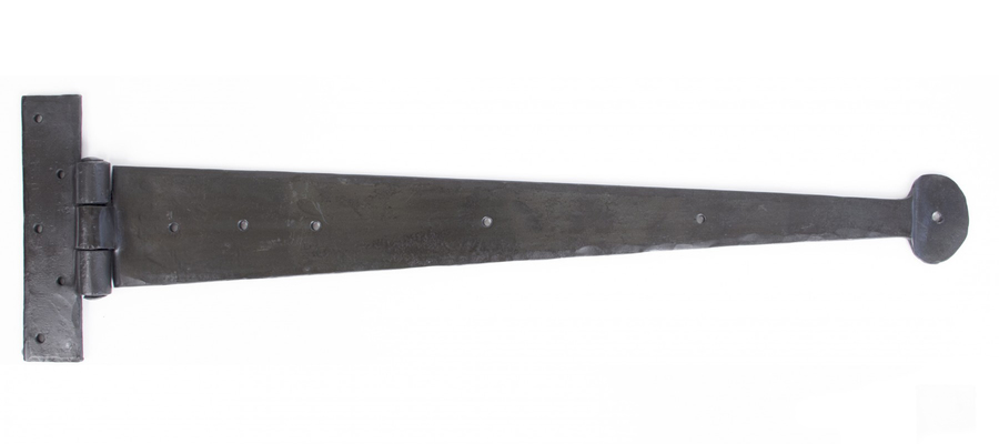 Beeswax 22'' Penny End T Hinge (pair) Image 1