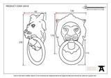 Black Lion Head Knocker Image 2 Thumbnail