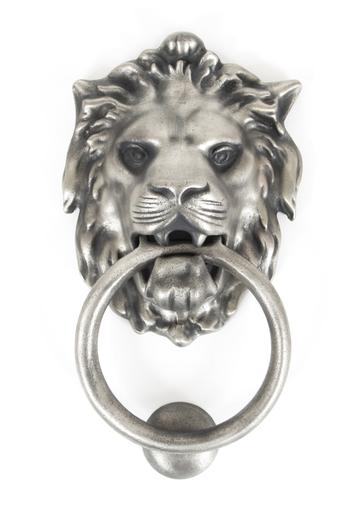Antique Pewter Lion Head Knocker Image 1