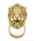 Polished Brass Lion Head Knocker Image 1 Thumbnail