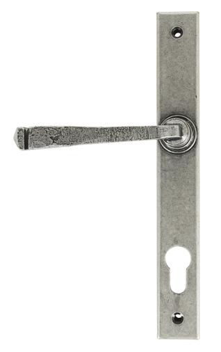 Pewter Avon Slimline Lever Espag. Lock Set Image 1