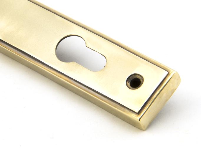 Aged Brass Reeded Slimline Lever Espag. Lock Set Image 5