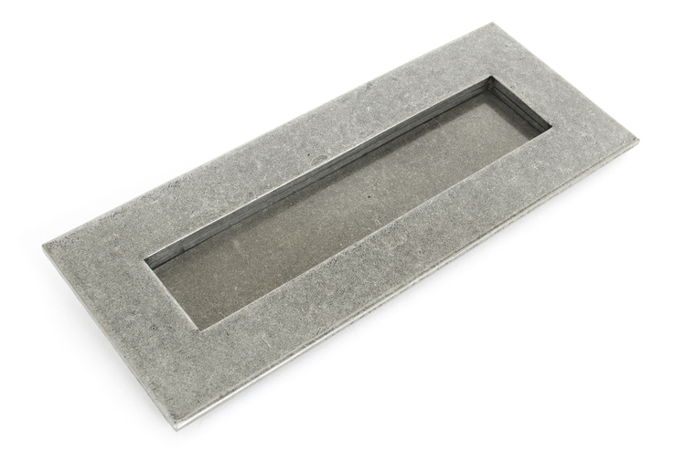 Pewter Small Letter Plate Image 1