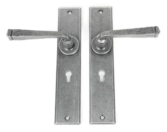 Pewter Large Avon Lever Lock Set Image 2