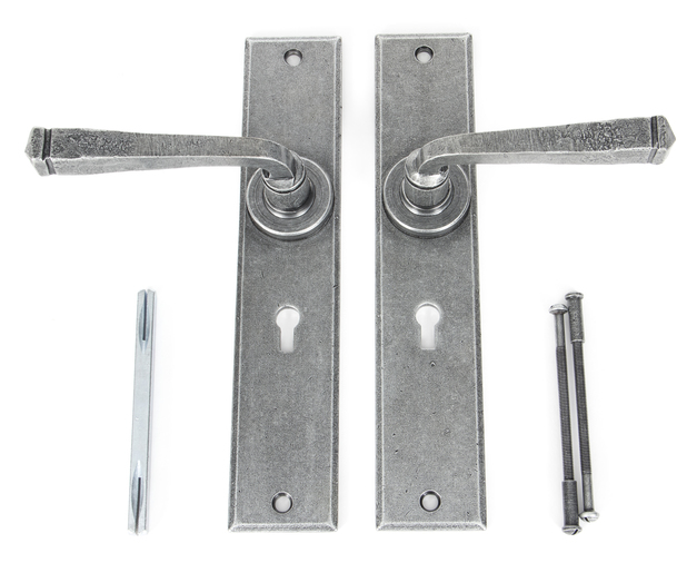 Pewter Large Avon Lever Lock Set Image 3