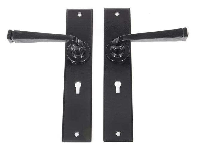 Black Large Avon Lever Lock Set Image 2