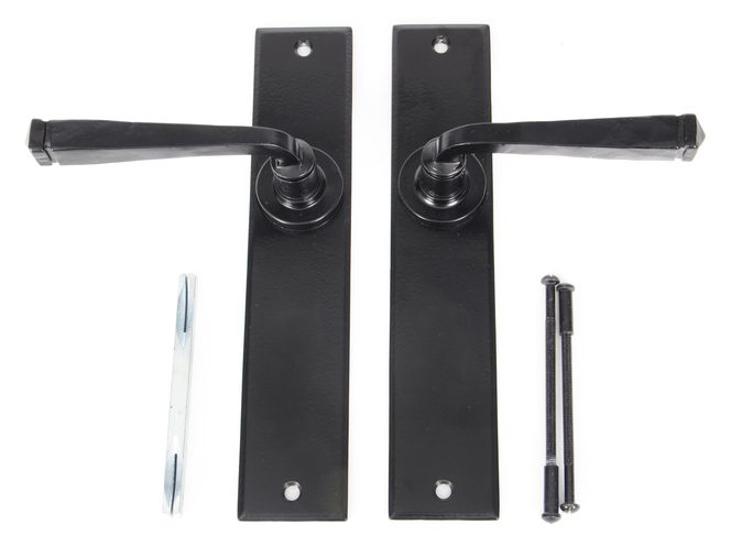 Black Large Avon Lever Latch Set Image 3