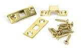 Polished Brass 4'' Universal Bolt Image 2 Thumbnail