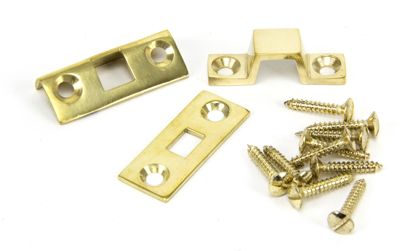 Polished Brass 4'' Universal Bolt Image 2