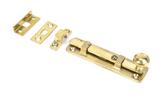 Polished Brass 4'' Universal Bolt Image 1 Thumbnail