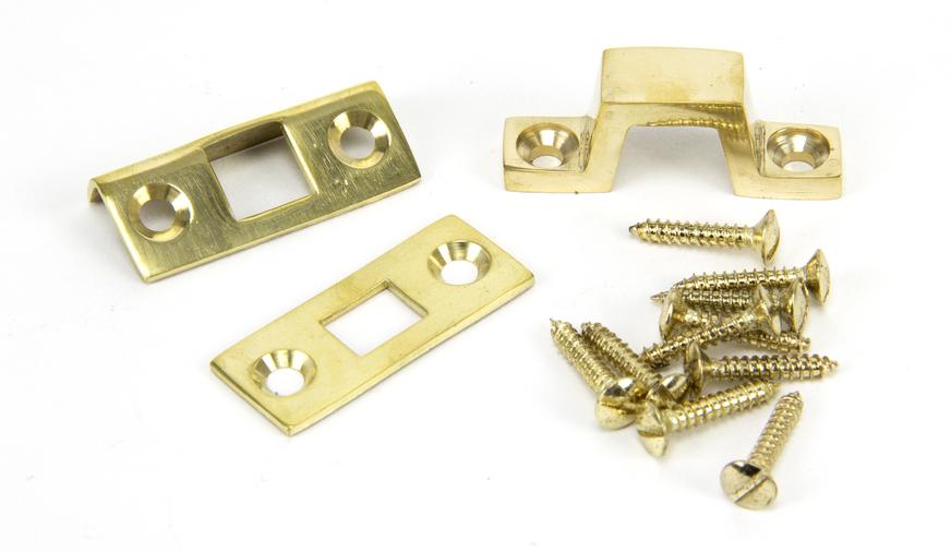Polished Brass 6'' Universal Bolt Image 2