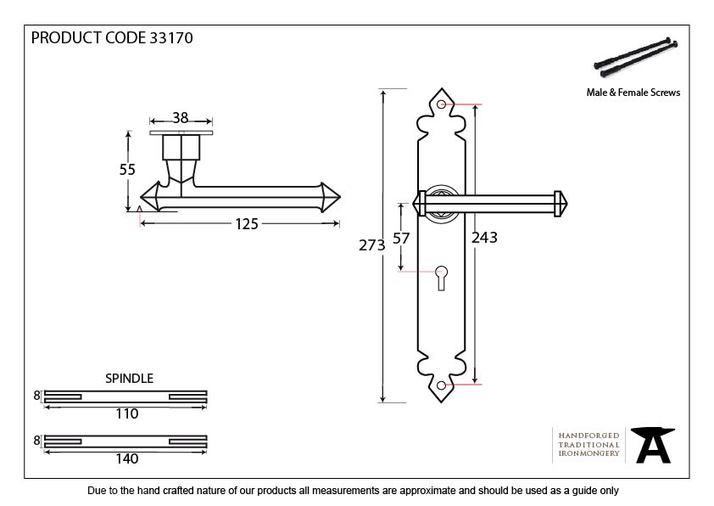 Beeswax Tudor Lever Lock Set Image 2