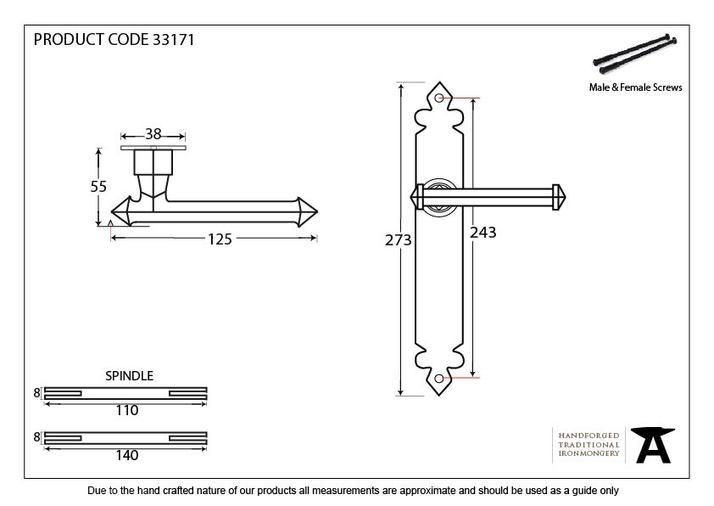 Beeswax Tudor Lever Latch Set Image 2