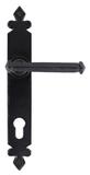 Black Tudor Lever Espag. Lock Set Image 1 Thumbnail