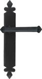 Black Tudor Lever Latch Set Image 1 Thumbnail