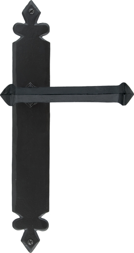 Black Tudor Lever Latch Set Image 1