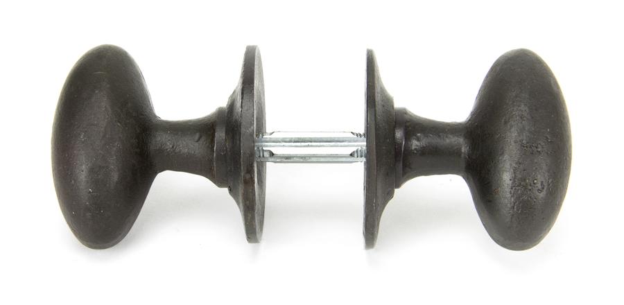 Beeswax Oval Mortice/Rim Knob Set Image 3