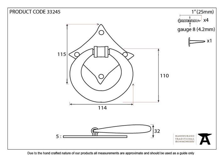 Black Ring Door Knocker Image 2