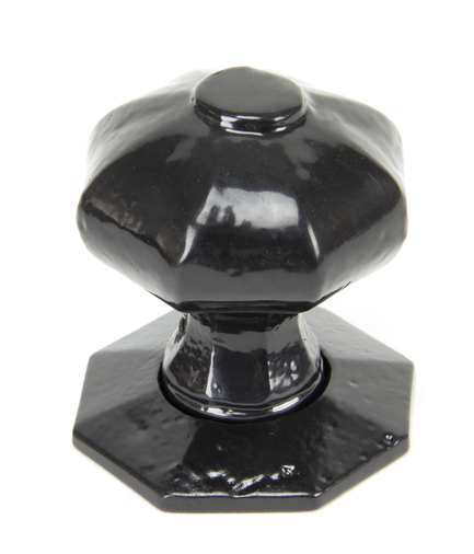Black Octagonal Mortice/Rim Knob Set Image 2