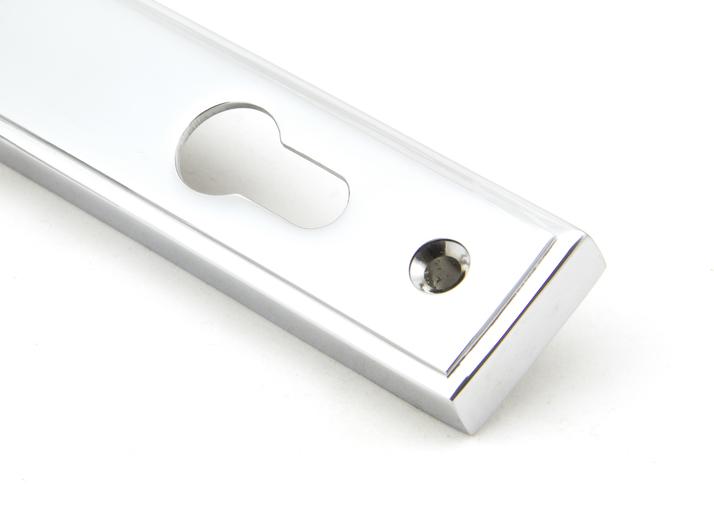 Polished Chrome Reeded Slimline Lever Espag. Lock Set Image 5