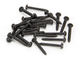Black 6 x 1'' Round Head Screws (25) Image 1 Thumbnail