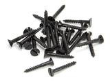 Black 6 x 1'' Countersunk Screws (25) Image 1 Thumbnail