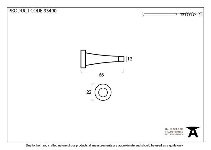 Pewter Projection Door Stop Image 2